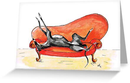Roaching Greyhound Whippet Lurcher - Schwarz & Weiß von greyhoundarts