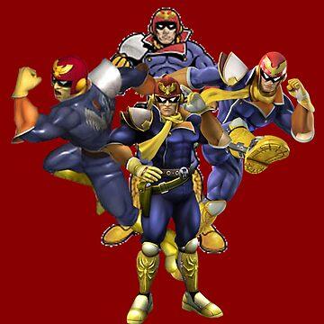 Smash Bros - Captain Falcon Through the Ages by Ravioko
