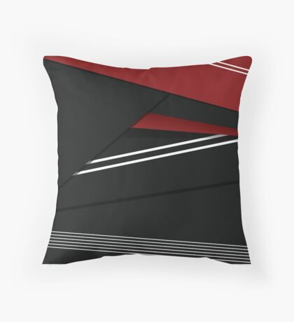 Red, White and Black Throw Pillow