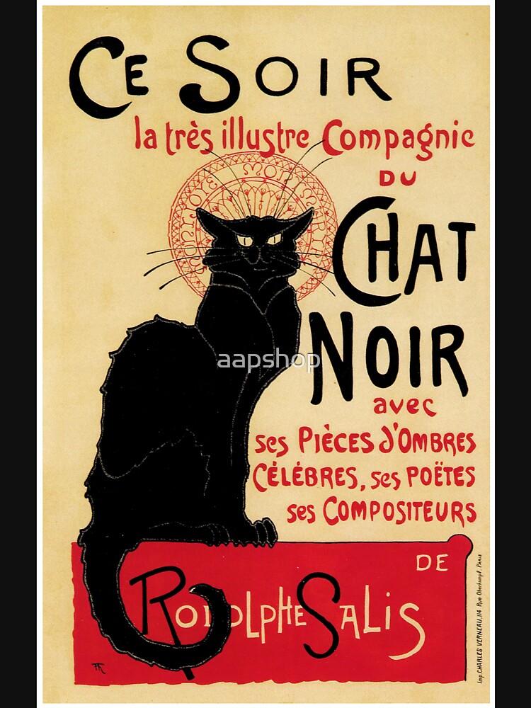The black cat, le chat noir famous art nouveau ad  by aapshop