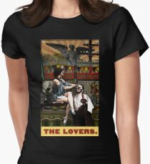 The Lovers - from Tarot of the Zirkus Mägi Womens Fitted T-Shirt