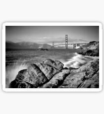 SAN FRANCISCO Baker Beach Monochrom Sticker