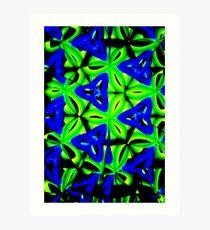 Blue Boomarang Art Print