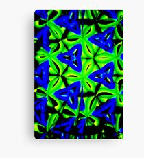 Blue Boomarang Canvas Print