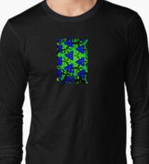 Blue Boomarang Long Sleeve T-Shirt