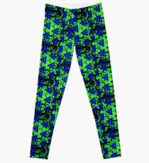 Blue Boomarang Leggings