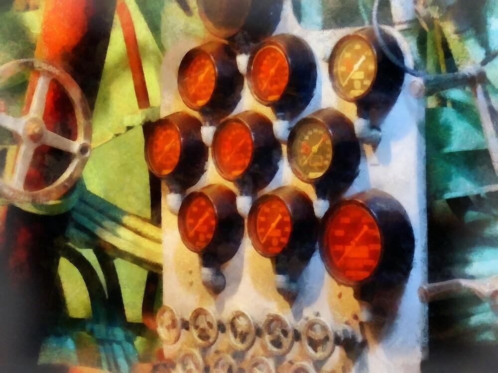 Steampunk - Gauges in Torpedo Room by Susan Savad
