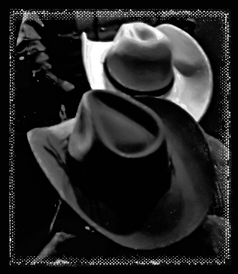 """""""HATS, Cowboy Style""""... prints and products by Bob Hall©"""