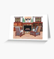 The Snowshoe Siamese Room Greeting Card