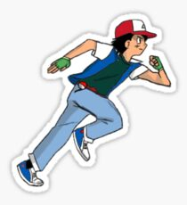 Ash Ketchum Running Sticker