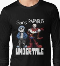 Sans and Papyrus Long Sleeve T-Shirt