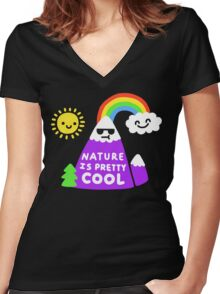 Nature Is Pretty Cool Women's Fitted V-Neck T-Shirt