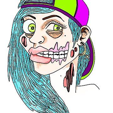 Zombie Skater Girl by ObscureArt