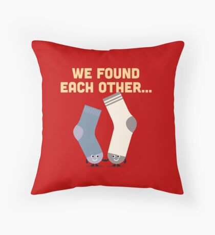 Character Building - Valentines Socks Throw Pillow