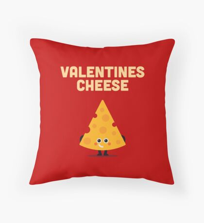 Character Building - Valentines cheese Throw Pillow