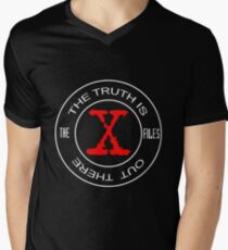 X-Files, red, white, black logo design T-Shirt