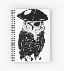 Owl Be A Pirate Spiral Notebook