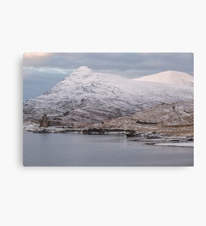 Ardvreck Castle in Winter Canvas Print