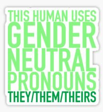 They/Them/Theirs Pronouns Sticker