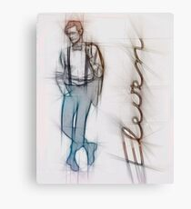 The Eleventh Doctor in Pencil Sketch Canvas Print