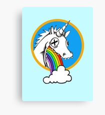 Drunk Unicorns Make Rainbows! Canvas Print