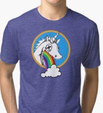Drunk Unicorns Make Rainbows! Tri-blend T-Shirt