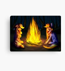 Rainbow Dash & Applejack Canvas Print
