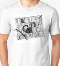 analog synthesizer illustration b&w - music equipment T-Shirt