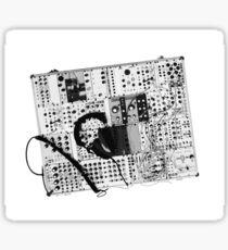 analog synthesizer illustration b&w - music equipment Sticker