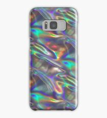 silver holographic Samsung Galaxy Case/Skin