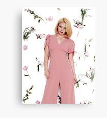 Girls' Generation (SNSD) Hyoyeon Flower Typography Canvas Print