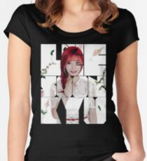 Girls' Generation (SNSD) Sunny Flower Typography Women's Fitted Scoop T-Shirt
