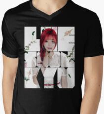 Girls' Generation (SNSD) Sunny Flower Typography Men's V-Neck T-Shirt