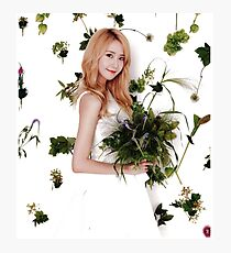 Girls' Generation (SNSD) Yoona Flower Typography Photographic Print