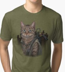 Daryl Dixon Cat Tri-blend T-Shirt