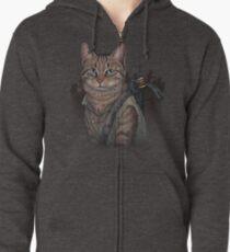 Daryl Dixon Cat Zipped Hoodie