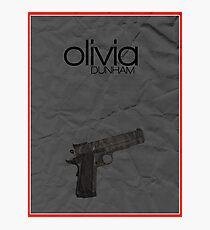 Fringe minimalist poster, Olivia Dunham (alternate universe) Photographic Print