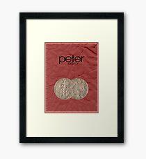 Fringe minimalist poster, Peter Bishop Framed Print