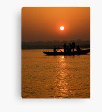 Sunrise on the Ganges Canvas Print