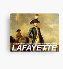 America's favorite fighting Frenchman — Lafayette! Canvas Print