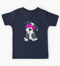Love Hearts American Pit Bull Terrier Puppy  Kids Tee