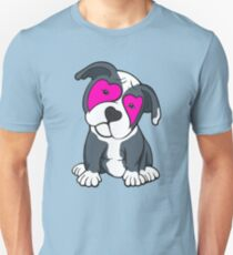 Love Hearts American Pit Bull Terrier Puppy  Unisex T-Shirt