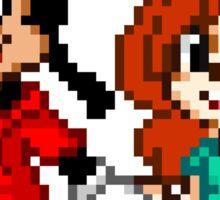 Goofy Movie - Max and Roxanne Running Pixel Art Sticker
