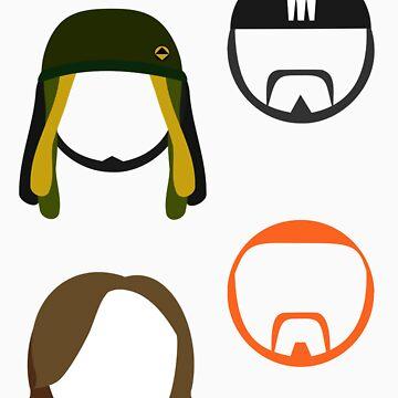 Zaibatsu Stickers by EliminatorZigma