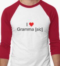 Love Grammar Men's Baseball ¾ T-Shirt