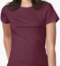 Be proud of your inner (and now outer) grammar geekiness! Womens Fitted T-Shirt