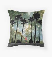 Paradise Galaxy Dream Throw Pillow
