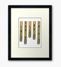 The Truth is Out There Pencils- The X-Files Framed Print