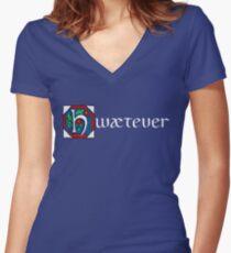 Camiseta entallada de cuello en V Hwætever! (Color alternativo)
