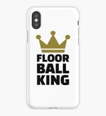 Floorball king champion iPhone Case